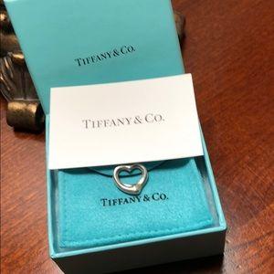 Tiffany sterling silver heart charm